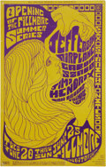 "Music Memorabilia:Posters, Jimi Hendrix - ""Opening of the Summer Series"" Fillmore AuditoriumPoster (Bill Graham Presents, 1967). Just weeks after his..."