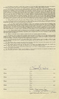 Music Memorabilia:Autographs and Signed Items, Jimi Hendrix Signed Contract. Although most writings refer to himas 'Jimi' throughout the timeline of his life for the sak...