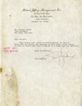 Music Memorabilia:Autographs and Signed Items, Jimi Hendrix Signed Letter. A rare typed letter, dated January 15,1970, to signed by Hendrix in black ballpoint. It reads:...