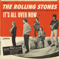 """Music Memorabilia:Recordings, Rolling Stones """"It's All Over Now"""" Picture Sleeve London 9687 (1964). One of the rarest of the Stones picture sleeves is thi..."""