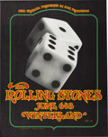 "Music Memorabilia:Posters, Rolling Stones ""Tumbling Dice"" Winterland Concert Poster BG289(Bill Graham, 1972). Riding high on the then-current album ""E..."