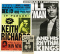 """Music Memorabilia:Posters, Rolling Stones Solo Poster and Program Group (1975-98). KeithRichards' first solo album """"Talk Is Cheap"""" spawned a tour in 1...(Total: 3 )"""