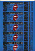 Music Memorabilia:Tickets, Rolling Stones Uncut Ticket Sheet (Bill Graham, 1981). Offered hereis a uncut ticket sheet for the Rolling Stones October 1...