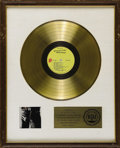 "Music Memorabilia:Awards, Rolling Stones ""Sticky Fingers"" Gold Record Award. Presented to theStones to commemorate the sale of more than $1 million ..."