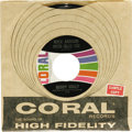 """Music Memorabilia:Recordings, Buddy Holly """"Rock Around With Ollie Vee""""/ """"I'm Gonna Love You Too"""" Promo 45 Coral 62390 (1964). This stunning copy bears the..."""
