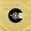 "Music Memorabilia:Recordings, Buddy Holly ""You're The One"" 45 Demo Acetate (1958). There is no traditional label on this demo; instead there is a sticker ..."