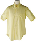 Music Memorabilia:Costumes, Stage-Worn Buddy Holly Yellow Short-Sleeved Shirt. Owned andstage-worn by the legendary musician, this is an Arrow brand sh...