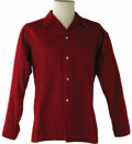 Music Memorabilia:Costumes, Buddy Holly Stage-Worn Corduroy Shirt. Holly's stage-worn, red cotton corduroy shirt by Arrow, with his name written on the...