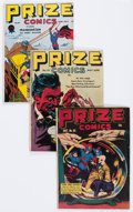 Golden Age (1938-1955):Superhero, Prize Comics Group of 4 (Prize, 1943-48).... (Total: 4 Comic Books)