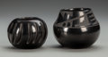 American Indian Art:Pottery, Two Southwest Blackware Jars... (Total: 2 )