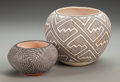 American Indian Art:Pottery, Two Acoma Black-On-White Jars... (Total: 2 Items)