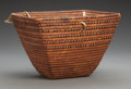 American Indian Art:Baskets, A Salish Imbricated Basket...