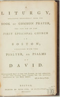 Books:Religion & Theology, [Religion & Theology]. A Liturgy, Collected Principally from the Book of Common Prayer, for the Use of the First Episcop...