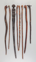 Tribal Art, Eight African and Indonesian Walking Sticks... (Total: 8 Items)