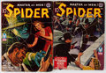 Pulps:Hero, The Spider Group (Popular, 1943) Condition: Average VG.... (Total: 2 Items)