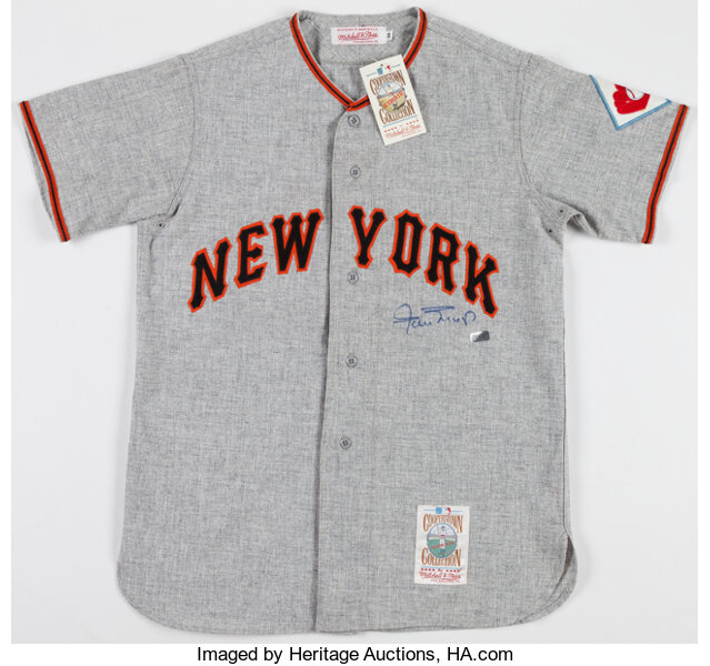 Willie Mays Signed New York Giants Jersey Baseball Collectibles