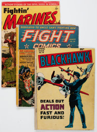 Comic Books - Assorted Golden and Silver Age War Comics Group of 14 (Various Publishers, 1942-57).... (Total: 14 Comic B...