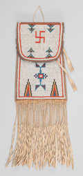 American Indian Art:Beadwork and Quillwork, A Cheyenne Beaded Leather Dispatch Case. c. 1910...