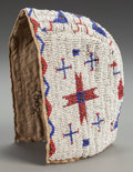 American Indian Art:Beadwork and Quillwork, A Sioux Girl's Beaded Hide Bonnet . c. 1890...