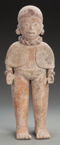 Pre-Columbian:Ceramics, A Vera Cruz Standing Priest or Orator. c. 600 - 900 AD... (Total: 3Items)