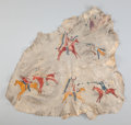 American Indian Art:Beadwork and Quillwork, A Plains Pictographic Painted Hide. c. 1885...