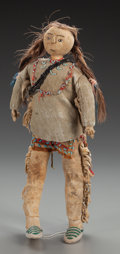 American Indian Art:Beadwork and Quillwork, A Plains Beaded Hide Doll. c. 1900...