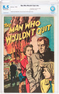Golden Age (1938-1955):Non-Fiction, The Man Who Wouldn't Quit #nn (Harvey, 1952) CBCS VF+ 8.5 Off-whiteto white pages....