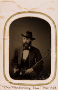 Photography:Tintypes, Sixth Plate Tintype Depicting Unidentified Bearded Man. Dated, November, 1873. ...