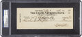 Baseball Collectibles:Others, 1936 Babe Ruth Signed Check, PSA/DNA NM-MT 8. ...