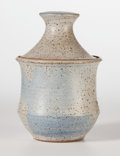 Ceramics & Porcelain, American:Contemporary   (1950 to present)  , Joel Edwards (American, 20th Century). Lidded Vessel, circa 1950. Glazed Ceramic. 8-1/2 inches high (21.6 cm). Incised ...