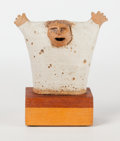 Ceramics & Porcelain, American:Contemporary   (1950 to present)  , Frank Matranga (American b. 1934). The Politician, circa 1975. Ceramic, wood. 5-3/4 inches (14.6 cm). signed to reverse...