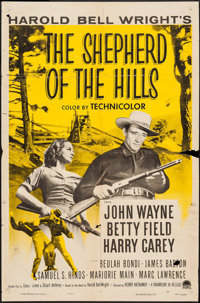 "The Shepherd of the Hills & Others Lot (Paramount, R-1955). One Sheets (2) (27"" X 41"") and Lobby Card..."