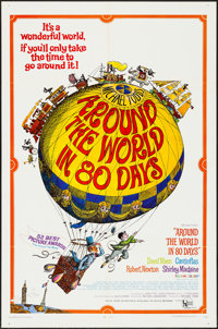 "Around the World in 80 Days & Others Lot (United Artists, R-1968). One Sheets (3) (27"" X 41""). Adventu..."