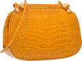 "Luxury Accessories:Accessories, Judith Leiber Shiny Yellow Alligator Shoulder Bag. Very GoodCondition. 7.5"" Width x 5.5"" Height x 2"" Depth. ..."