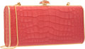 "Luxury Accessories:Bags, Judith Leiber Matte Pink Alligator Clutch Bag. Excellent Condition. 7.5"" Width x 3.5"" Height x 1.5"" Depth. ..."