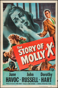 """The Story of Molly X & Other Lot (Universal International, 1949). One Sheets (2) (27"""" X 41""""), &amp..."""