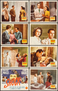 "Movie Posters:Film Noir, Shock (20th Century Fox, 1946). Lobby Card Set of 8 (11"" X 14"").Film Noir.. ... (Total: 8 Items)"