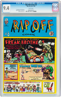 Rip Off Comix #8 (Rip Off Press, 1981) CGC NM 9.4 White pages