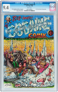 Cocaine Comix #2 (Last Gasp, 1980) CGC NM 9.4 White pages