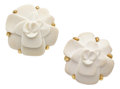 Estate Jewelry:Earrings, White Agate, Gold Earrings, Chanel. ...
