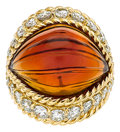 Estate Jewelry:Rings, Citrine, Diamond, Gold Ring, Boucheron. ...