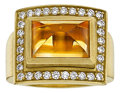 Estate Jewelry:Rings, Citrine, Diamond, Gold Ring, Kieselstein-Cord. ...