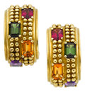 Estate Jewelry:Earrings, Multi-Stone, Gold Earrings, Kieselstein-Cord. ...