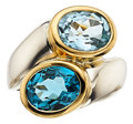 Estate Jewelry:Rings, Blue Topaz, Gold Ring, Marina B. ...