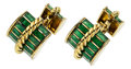 Estate Jewelry:Cufflinks, Enamel, Gold Cuff Links, David Webb. ...