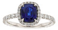 Estate Jewelry:Rings, Sapphire, Diamond, Platinum Ring, Julius Cohen. ...