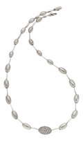 Estate Jewelry:Necklaces, Diamond, White Gold Necklace, Salavetti. ...