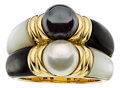 Estate Jewelry:Rings, Cultured Pearl, Hematite, Mother-of-Pearl, Gold Ring, Bvlgari. ...
