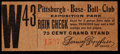 Baseball Collectibles:Tickets, 1900's Pittsburgh Pirates Ticket Stub/Rain Check - ExpositionPark....