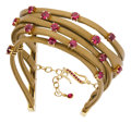 Estate Jewelry:Bracelets, Ruby, Gold, Leather Bracelet, Mimi So. ...
